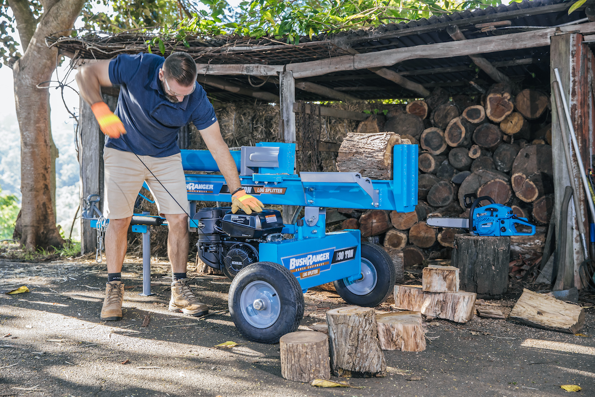 Bushranger Log Splitter Starting